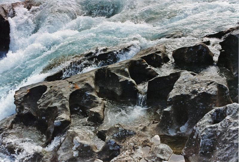 Natural flowforms in the river Sjoa